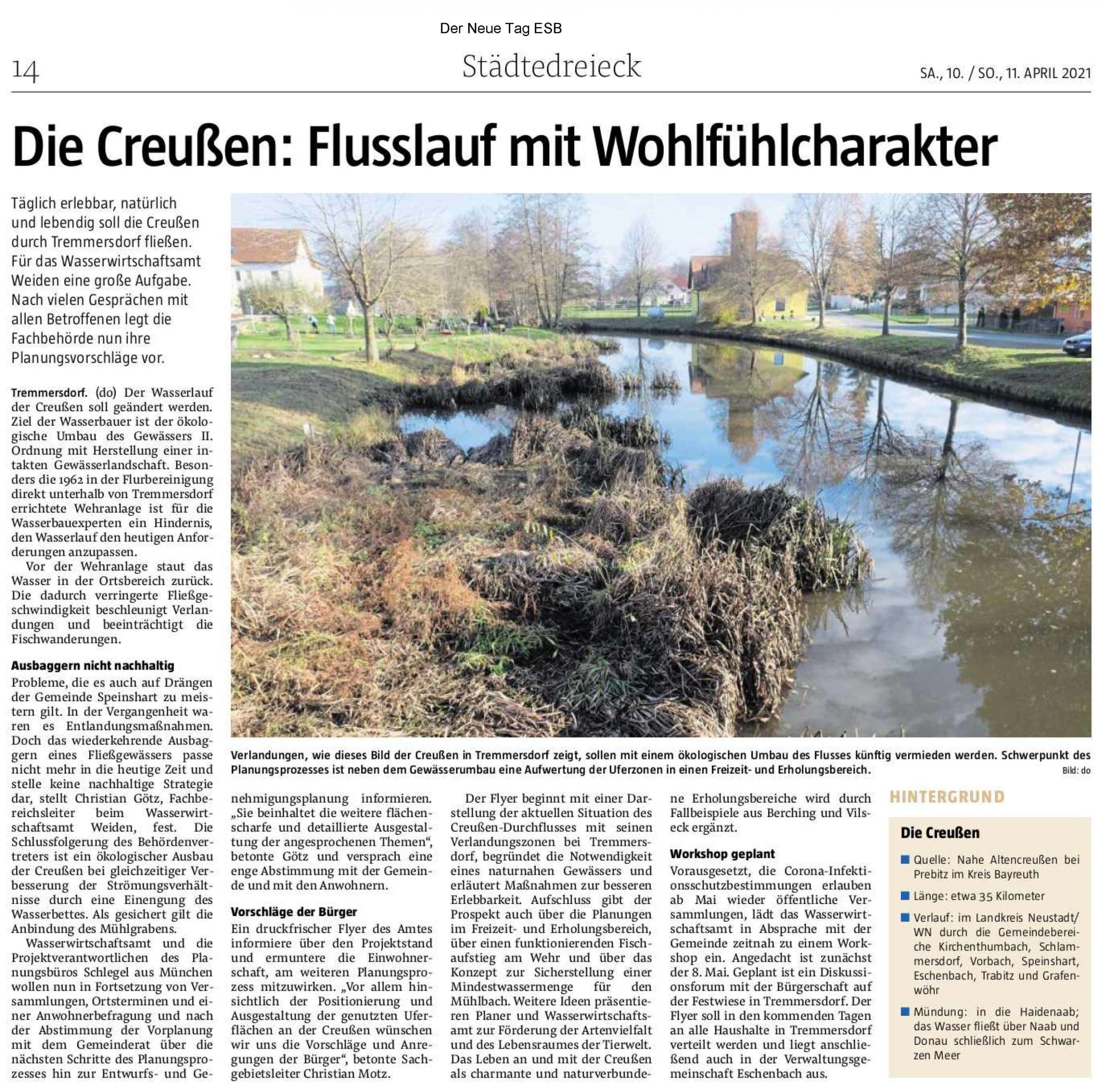 Foto des Presseartikels Tremmersdorf die Creußen