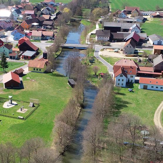 Drohnenaufnahme der Creussen in Tremmersdorf